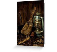 Dustpan & Broom Greeting Card