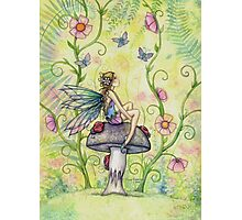 A Happy Place Flower Fairy and Ladybugs Photographic Print