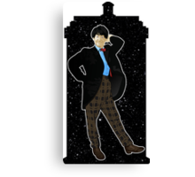 Second Doctor and The TARDIS Canvas Print