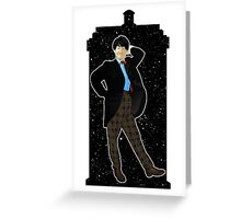 Second Doctor and The TARDIS Greeting Card