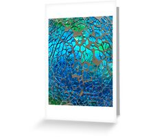Shimmering Cracked Glass Pattern Greeting Card