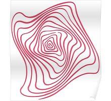 Pink Spiral Poster