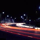 Night Shot...Spit Road by C J Lewis