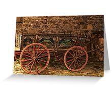 Traditional Painted Horse Cart in Etara, Bulgaria Greeting Card