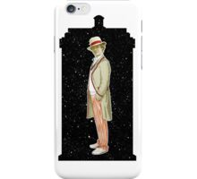 Fifth Doctor and The TARDIS iPhone Case/Skin