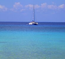Catamaran in the Caribbean by Honor Kyne