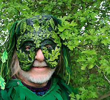 The Green man Beltane Chalice Well 08 by Amanda Gazidis