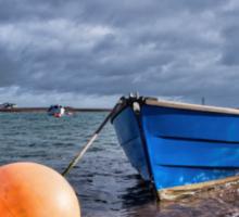 Little Blue Boat At Shaldon, Devon Sticker