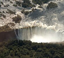 Victoria Falls from the Air 2 by Marylou Badeaux