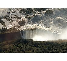 Victoria Falls from the Air 2 Photographic Print