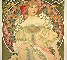 'Obraz' by Alphonse Mucha (Reproduction) by Roz Abellera Art