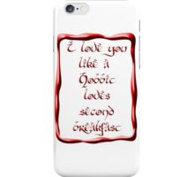 Valentine's Day #5 - Hobbit Love iPhone Case/Skin