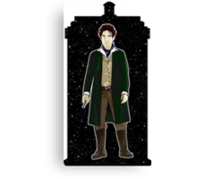 Eighth Doctor and The TARDIS Canvas Print