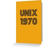 Unix 1970 Greeting Card