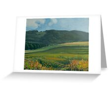 View of the Bystrzyckie Mountains Greeting Card