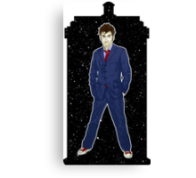 Tenth Doctor and The TARDIS Canvas Print