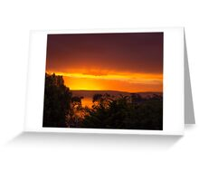 Sunset Over Great Oyster Bay Greeting Card