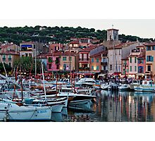 Cassis, French Riviera, in the Summer at Dusk Photographic Print