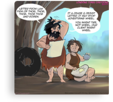 Prehistoric Litigation Canvas Print
