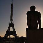 Eiffel Tower from Trocadero by lrkane