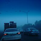 Daily Commute - traffic jam morning cars freeway photograph by CDCcreative