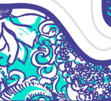 Lilly Pulitzer Whale Montauk Summer Sticker