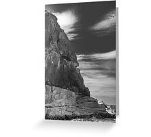 Cliff Face From The Tasman Sea (Freycinet National Park) Greeting Card