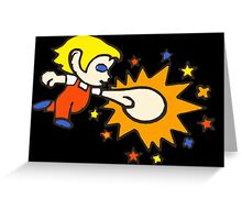 Alex Kidd case <Black> Greeting Card