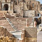 Remains of Roman Theatre & Santa Maria La Vieja Cathedral, Cartagena, Spain by Squealia