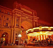 Carousel in a Piazza by edwardsuhadi