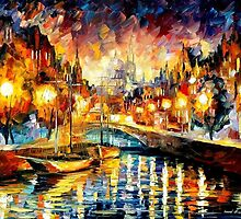 Canal Of Feelings — Buy Now Link - www.etsy.com/listing/220288662 by Leonid  Afremov
