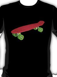 Retro Skate - Red version - Amazing transparente effect T-Shirt