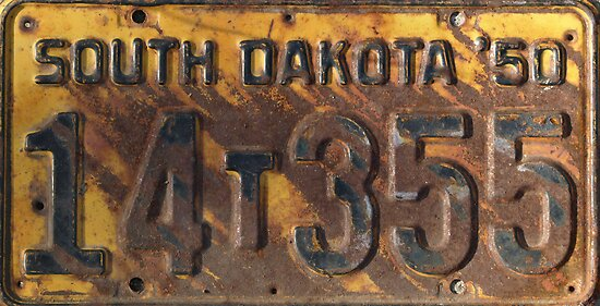 SD Liscence Plate by Dawne Olson