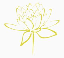Lotus Flower Calligraphy (Yellow) Kids Clothes
