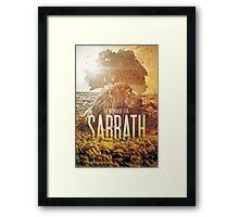 Commandment 4 - Remember The Sabbath Framed Print