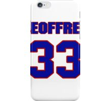 National football player Geoffrey Pope jersey 33 iPhone Case/Skin