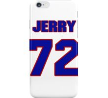 National football player Jerry Helluin jersey 72 iPhone Case/Skin