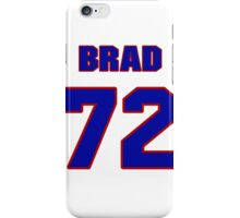 National football player Brad Hopkins jersey 72 iPhone Case/Skin