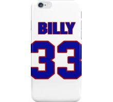 National football player Billy Joe jersey 33 iPhone Case/Skin