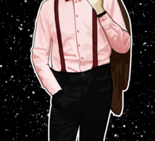 Eleventh Doctor and The TARDIS Sticker