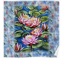 Water Lilies Fantasy Poster
