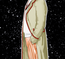 Fifth Doctor and The TARDIS Sticker