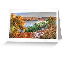 Lake Nasser at Sunset Greeting Card