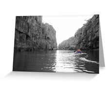Canoeing Katherine Gorge, Northern Territory Greeting Card