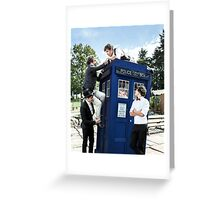 One Direction & The Tardis Greeting Card