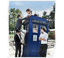 One Direction & The Tardis Poster