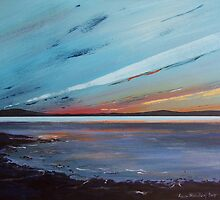 Sunset over Islay by Anne Nicholson