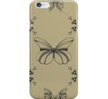 Black Butterfly and Vines iPhone Case/Skin