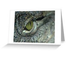 Aligator eye Greeting Card