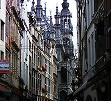 The Old street in Brussels (Belgium) by Antanas